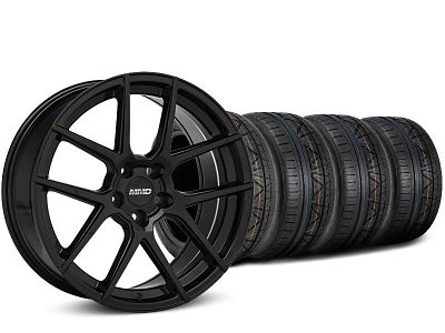 MMD Staggered Zeven Black Wheel & NITTO INVO Tire Kit - 19x8.5/10 (15-19 GT, EcoBoost, V6)