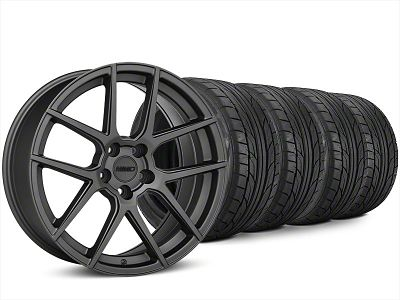 Staggered MMD Zeven Charcoal Wheel & NITTO NT555 G2 Tire Kit - 20x8.5/10 (15-19 All)