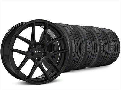 Staggered MMD Zeven Black Wheel & NITTO NT555 G2 Tire Kit - 20x8.5/10 (15-19 All)