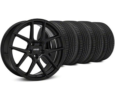 Staggered MMD Zeven Black Wheel & Michelin Pilot Sport A/S 3+ Tire Kit - 20x8.5/10 (15-19 All)