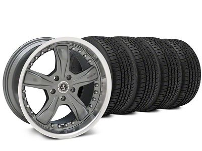 Staggered Shelby Razor Gunmetal Wheel & Michelin Pilot Sport A/S 3+ Tire Kit - 20x9/10 (15-19 All)