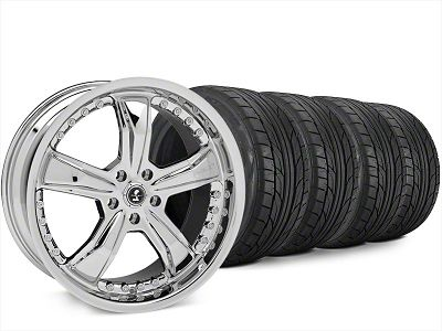 Staggered Shelby Razor Chrome Wheel & NITTO NT555 G2 Tire Kit - 20x9/10 (15-19 All)