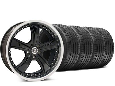 Staggered Shelby Razor Black Wheel & Sumitomo HTR Z III Tire Kit - 20x9 (15-19 GT, EcoBoost, V6)