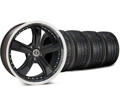 Staggered Shelby Razor Black Wheel & NITTO INVO Tire Kit - 20x9 (15-19 GT, EcoBoost, V6)