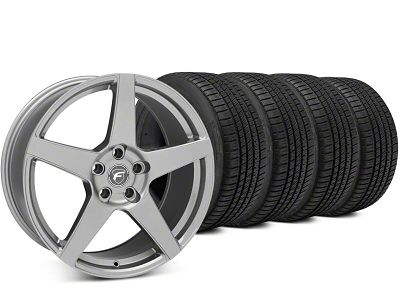 Staggered Forgestar CF5 Gunmetal Wheel & Michelin Pilot Sport A/S 3+ Tire Kit - 19x9/10 (15-19 All)