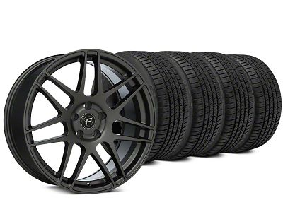 Staggered Forgestar F14 Gunmetal Wheel & Michelin Pilot Sport A/S 3+ Tire Kit - 19x9/10 (15-19 All)