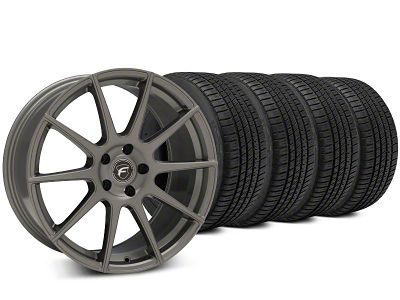Staggered Forgestar CF10 Gunmetal Wheel & Michelin Pilot Sport A/S 3+ Tire Kit - 19x9/10 (15-19 All)