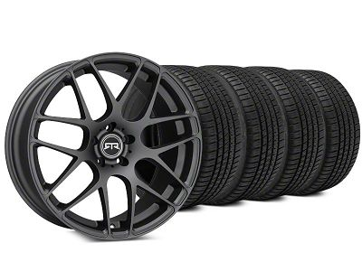 Staggered RTR Charcoal Wheel & Michelin Pilot Sport A/S 3+ Tire Kit - 19x8.5/10 (15-19 All)