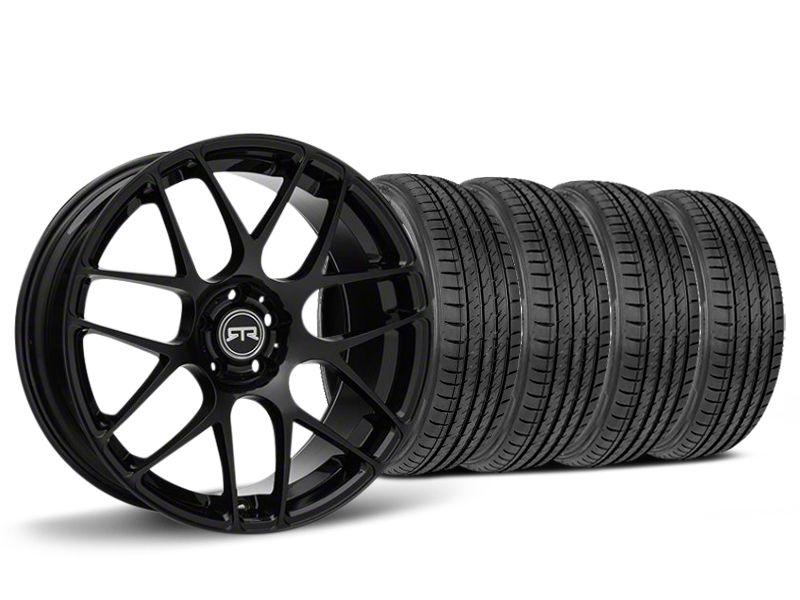 Staggered RTR Black Wheel & Sumitomo HTR Z III Tire Kit - 19x8.5 (15-19 GT, EcoBoost, V6)