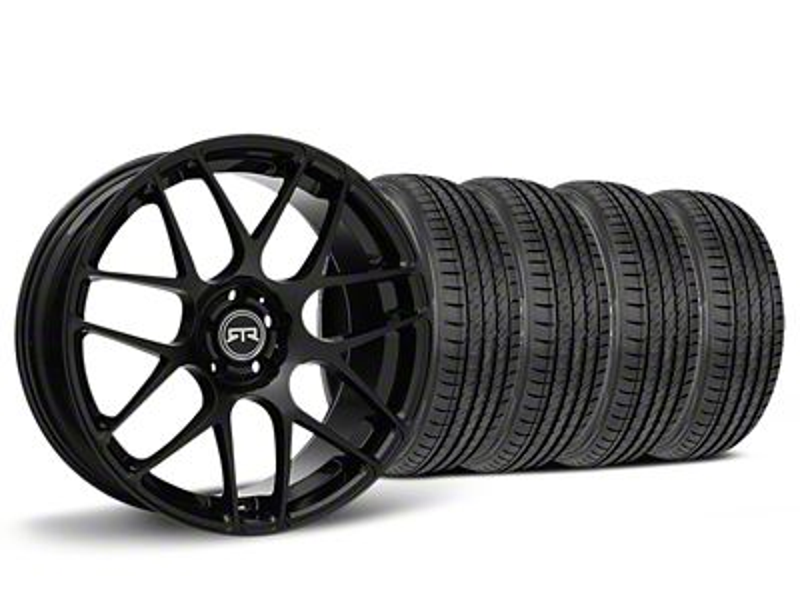 Staggered RTR Black Wheel & Sumitomo HTR Z III Tire Kit - 19x9.5 (15-19 GT, EcoBoost, V6)
