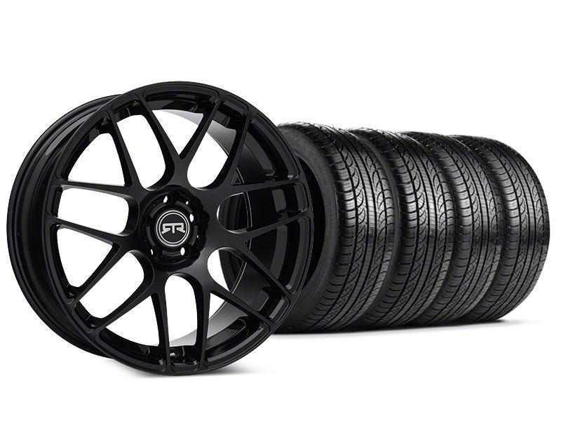 Staggered RTR Black Wheel & Pirelli P-Zero Nero Tire Kit - 19x9.5 (15-19 GT, EcoBoost, V6)