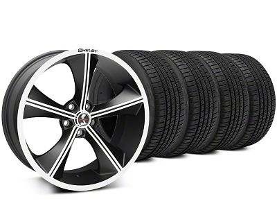 Staggered Shelby CS70 Matte Black Wheel & Michelin Pilot Sport A/S 3+ Tire Kit - 20x9/10 (15-19 All)