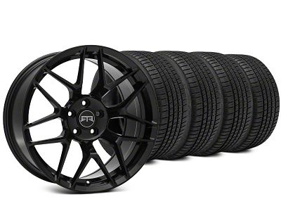 Staggered RTR Tech 7 Black Wheel & Michelin Pilot Sport A/S 3+ Tire Kit - 19x9.5/10.5 (15-19 All)
