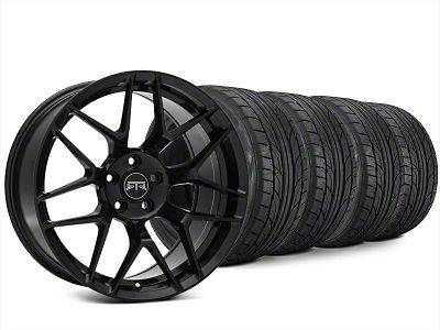 Staggered RTR Tech 7 Black Wheel & NITTO NT555 G2 Tire Kit - 20x9.5/10.5 (15-19 All)