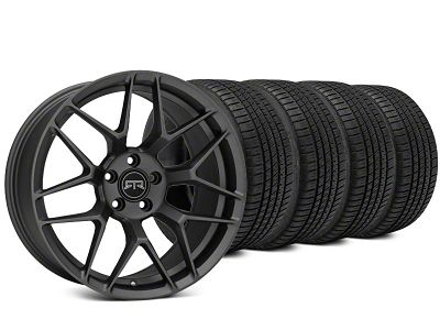 Staggered RTR Tech 7 Charcoal Wheel & Michelin Pilot Sport A/S 3+ Tire Kit - 20x9.5/10.5 (15-19 All)