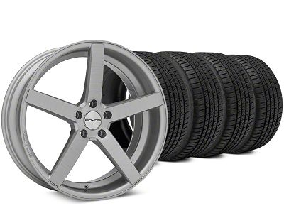 Staggered Rovos Durban Brushed Wheel & Michelin Pilot Sport A/S 3+ Tire Kit - 20x8.5/10 (15-19 All)