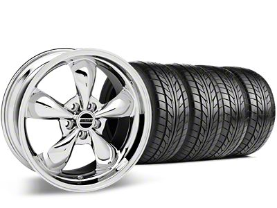 Staggered Bullitt Chrome Wheel & NITTO G2 Tire Kit - 17x9/10.5 (99-04 All)