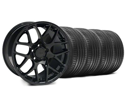 Staggered AMR Black Wheel & Sumitomo HTR Z III Tire Kit - 20x8.5 (15-19 GT, EcoBoost, V6)