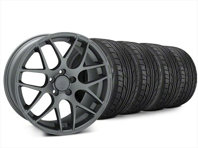 Staggered AMR Charcoal Wheel & NITTO NT555 G2 Tire Kit - 20x8.5/10 (15-19 GT, EcoBoost, V6)