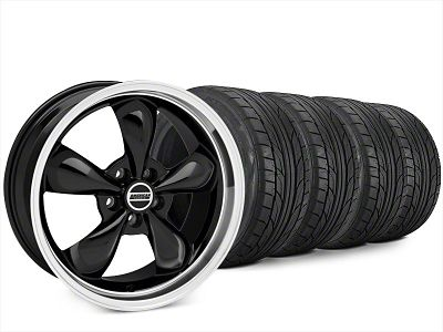 Staggered Bullitt Black Wheel & NITTO NT555 G2 Tire Kit - 20x8.5/10 (15-19 EcoBoost, V6)