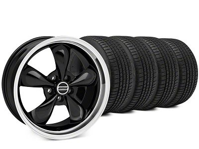 Staggered Bullitt Black Wheel & Michelin Pilot Sport A/S 3+ Tire Kit - 20x8.5/10 (15-19 EcoBoost, V6)