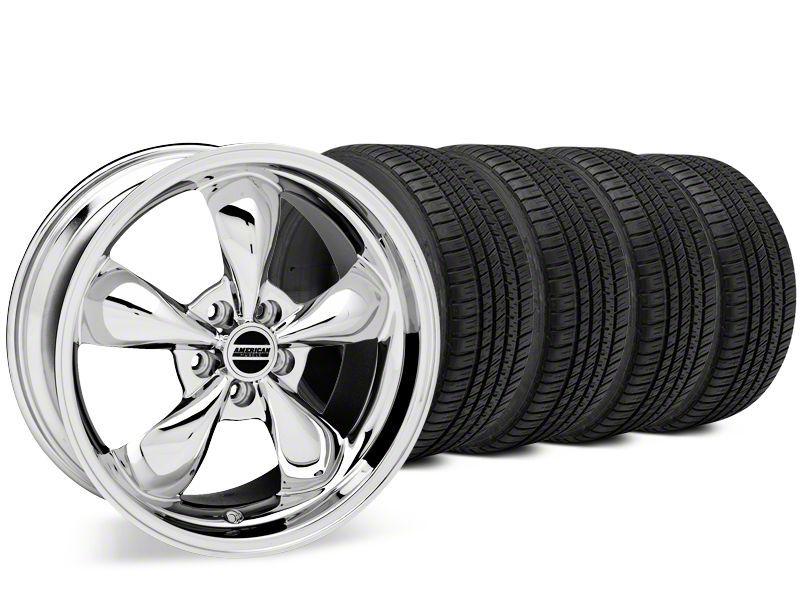 Staggered Bullitt Chrome Wheel & Michelin Pilot Sport A/S 3+ Tire Kit - 20x8.5/10 (15-19 EcoBoost, V6)