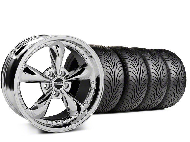 Staggered Bullitt Motorsport Chrome Wheel & Sumitomo HTR Z II Tire Kit - 18x9 (15-19 GT, EcoBoost, V6)