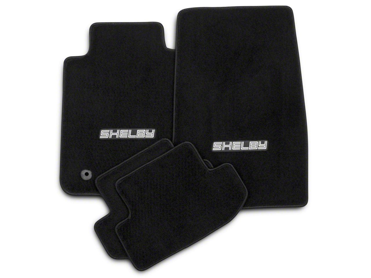 Lloyd Front & Rear Floor Mats w/ Shelby Logo - Black (15-19 All)
