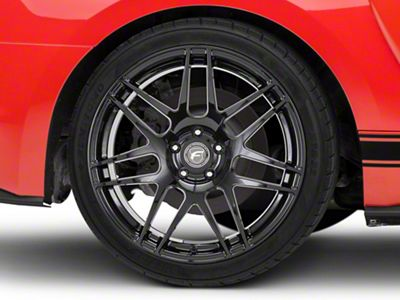 Forgestar F14 Monoblock Piano Black Wheel - 19x11 - Rear Only (15-19 GT, GT350)