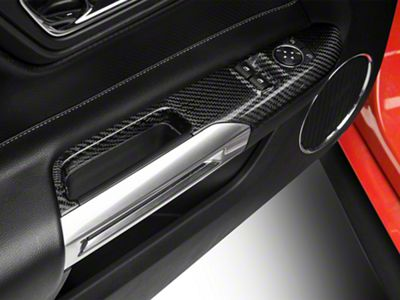 Carbon Fiber Window Switch Covers (15-19 Fastback)