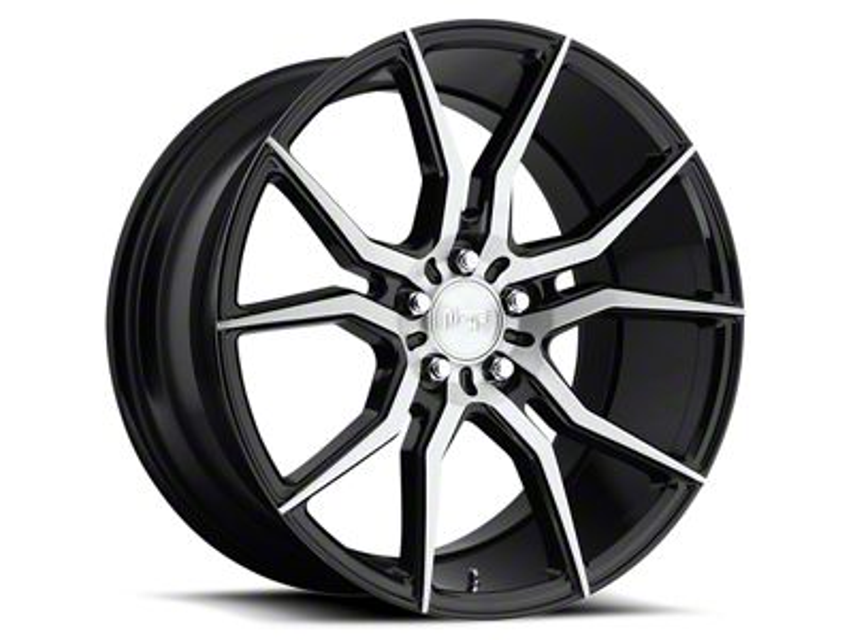 Niche Black Machined Ascari Wheel - 20x10 - Rear Only (05-14 All)