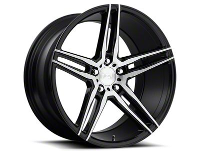Niche Turin Black Machined Wheel - 20x10 - Rear Only (15-19 GT, EcoBoost, V6)