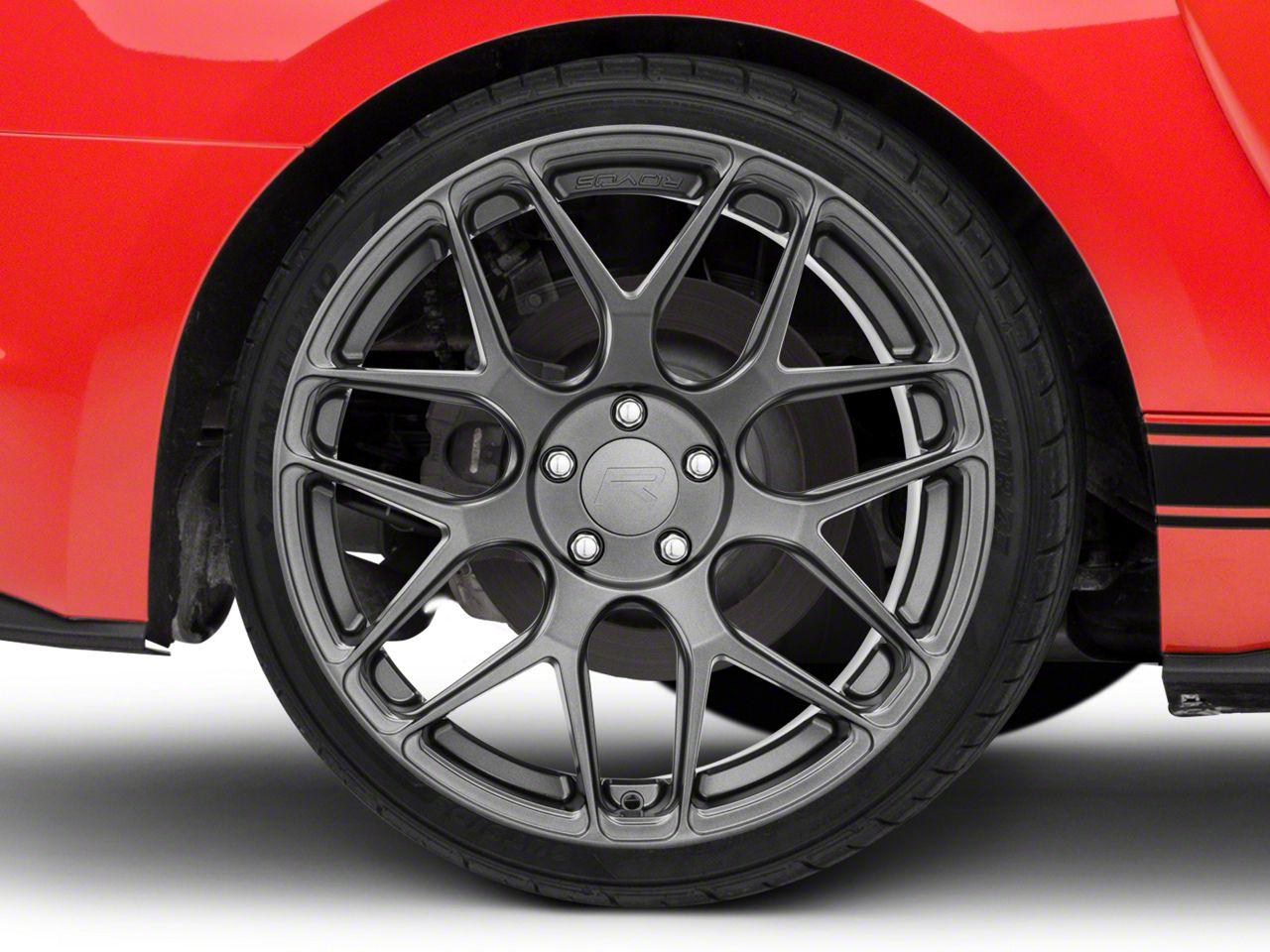 Rovos Pretoria Gunmetal Wheel - 20x10 - Rear Only (15-19 GT, EcoBoost, V6)