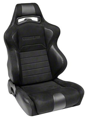 Corbeau LG1 Racing Seat - Wide - Black Microsuede - Pair (79-19 All)