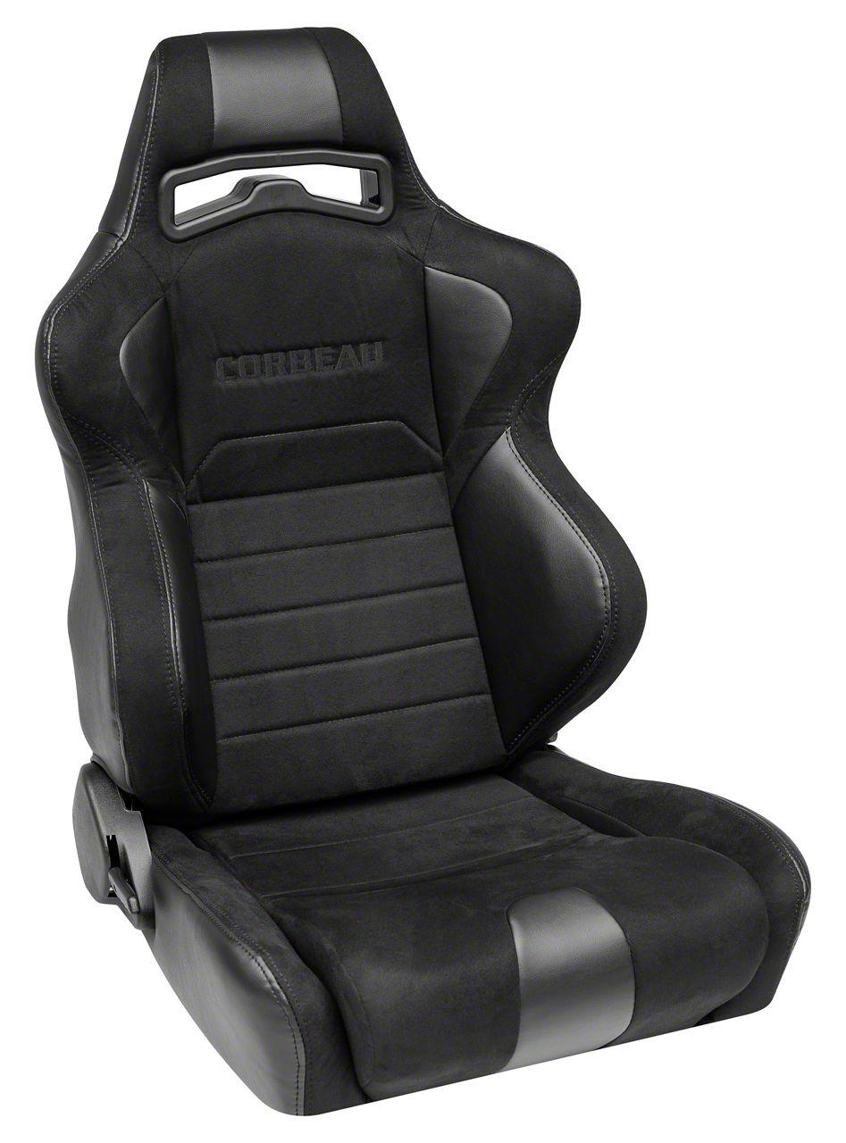 Corbeau LG1 Racing Seat - Wide - Black Microsuede - Pair (79-19 All)
