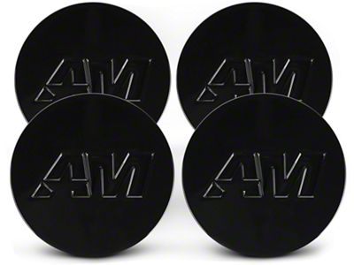 Black AmericanMuscle Center Cap Kit (94-19 All)