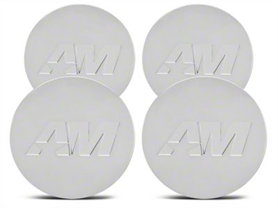 Chrome AmericanMuscle Center Cap Kit (94-19 All)
