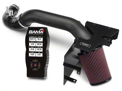 Mishimoto Performance Air Intake - Wrinkle Black & Bama X4 Tuner (15-17 EcoBoost)