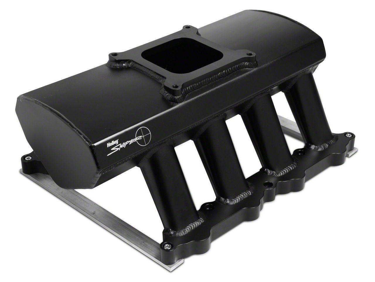 Sniper Hi-Ram Single Plane Carbureted Fabricated Intake Manifold - Black (11-14 GT)