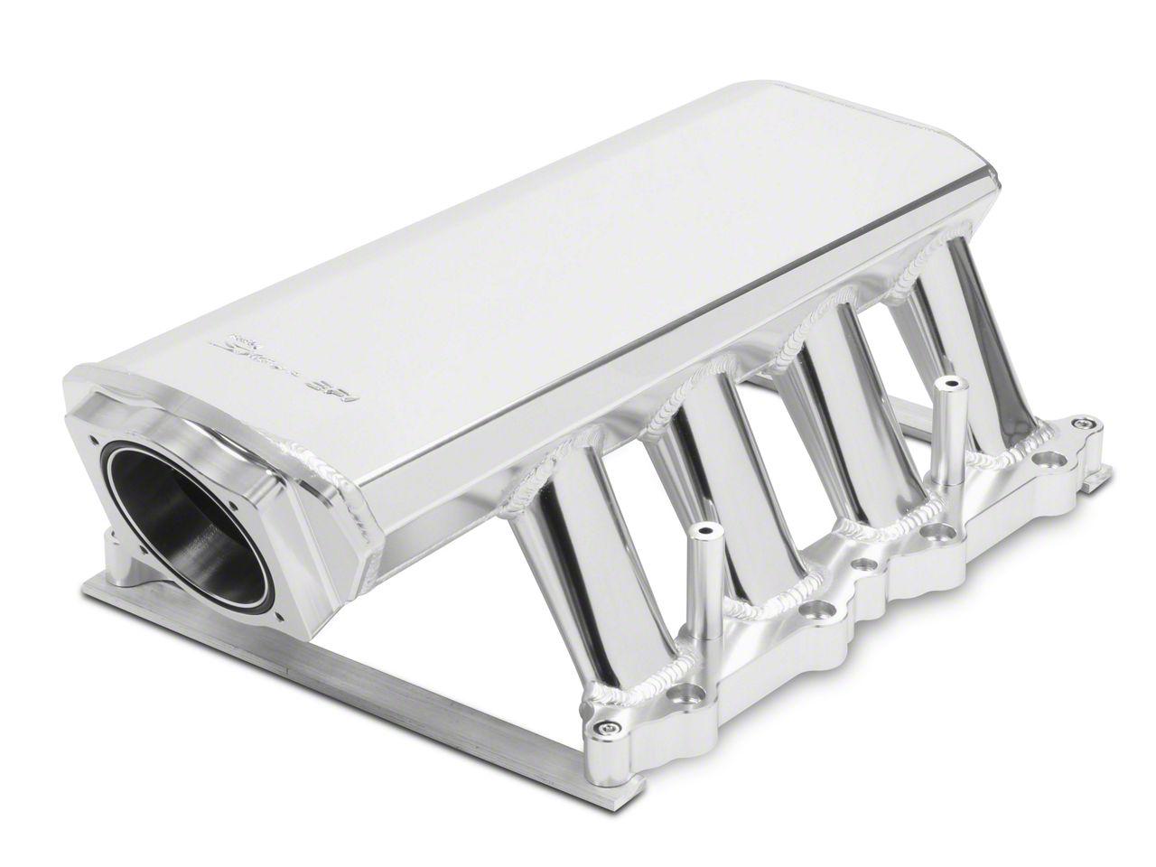 Sniper Hi-Ram EFI Fabricated Intake Manifold w/ 90mm TB Opening & Fuel Rail Kit - Silver (11-14 GT)