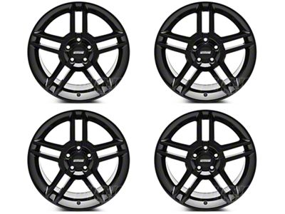 Black 2010 GT500 Style 4 Wheel kit - 18x9 (05-14 All)