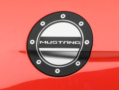 Competition Series Fuel Door - Mustang Black & Silver (15-17 All)