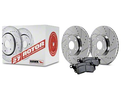 Hawk Performance Sector 27 Rotors and HPS 5.0 Brake Pad Kit - Rear (05-14 All)
