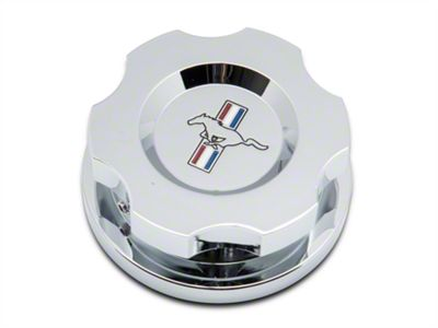 Modern Billet Chrome Radiator Cap Cover w/ Tri-Bar Logo (15-19 All)