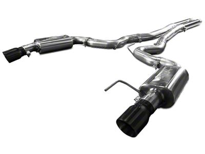 Kooks Cat-Back Exhaust w/ H-Pipe & Black Tips (15-17 GT)