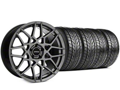 2013 GT500 Style Hyper Dark Wheel & NITTO NT555 G2 Tire Kit - 19x8.5 (05-14 All)