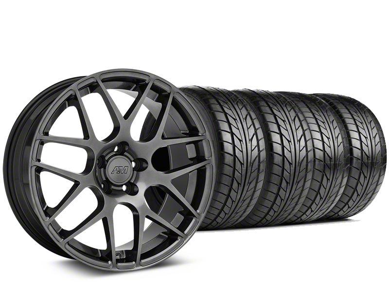 AMR Dark Stainless Wheel & NITTO NT555 G2 Tire Kit - 19x8.5 (05-14 All)