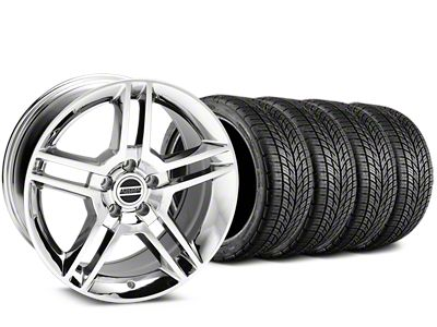 2010 GT500 Style Chrome Wheel & BF Goodrich G-FORCE COMP 2 Tire Kit - 19x8.5 (05-14 All)