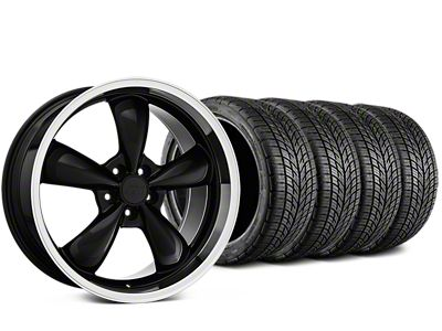 Bullitt Black Wheel & BF Goodrich G-FORCE COMP 2 Tire Kit - 19x8.5 (05-14 Standard GT, V6)