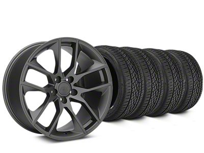 Magnetic Style Charcoal Wheel & Continental Extreme Contact DWS06 Tire Kit - 19x8.5 (05-14 All)